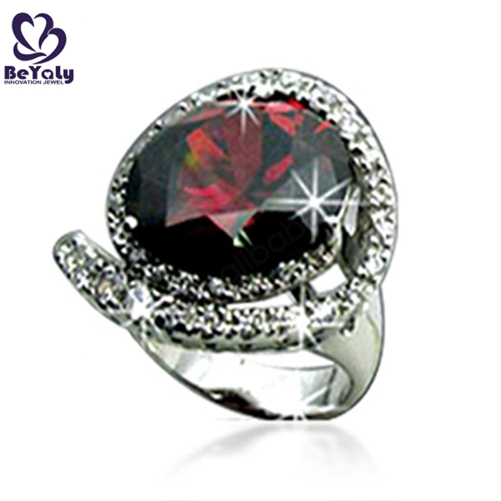 Brilliant Flower Gold Plating Engraved Ruby Ring Gemstone Jewelry