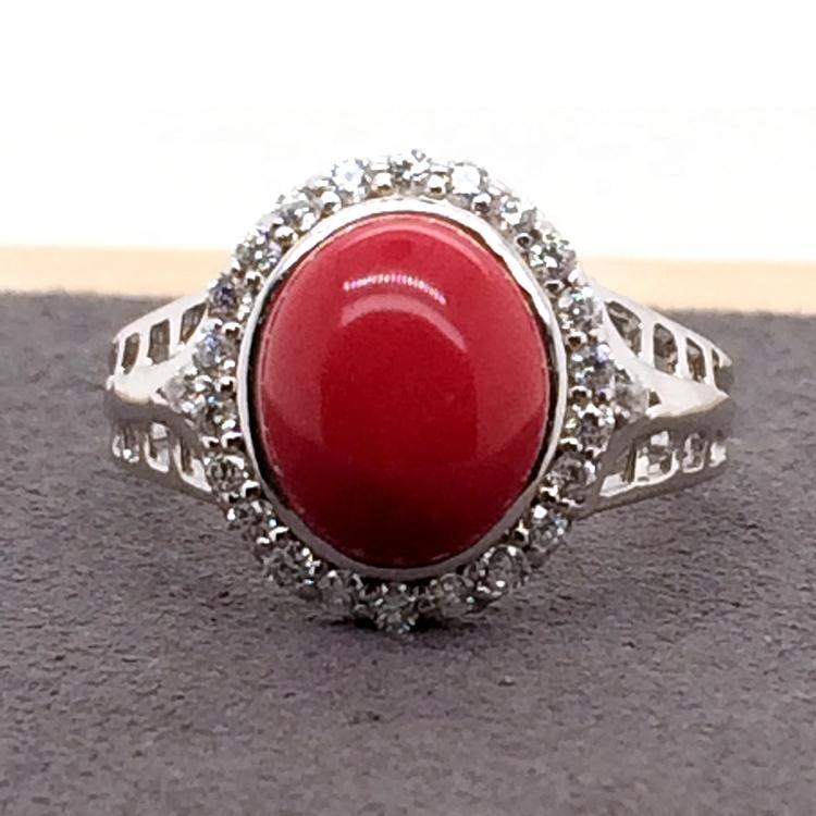 Fashion red stone cheap gorgeous fashionable jewelry