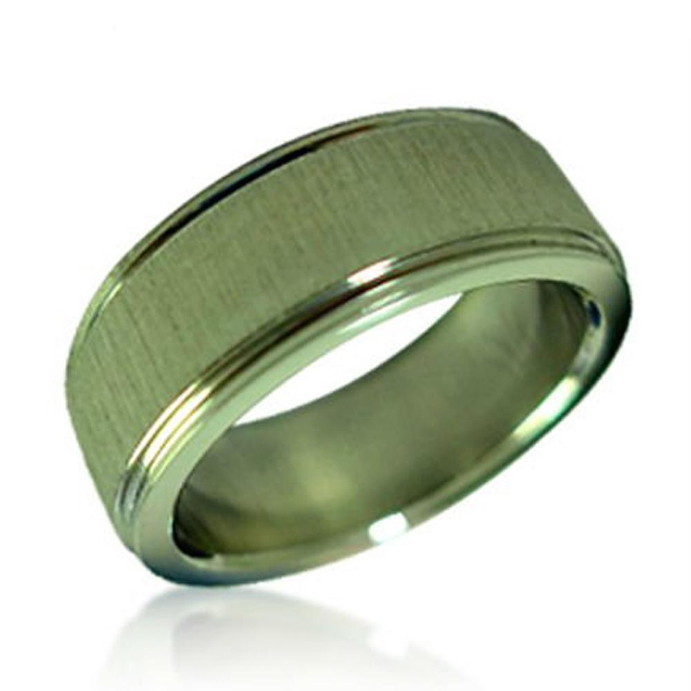 Chic Shiny Smooth Titanium Tibetan Wedding Ring Stainless Steel