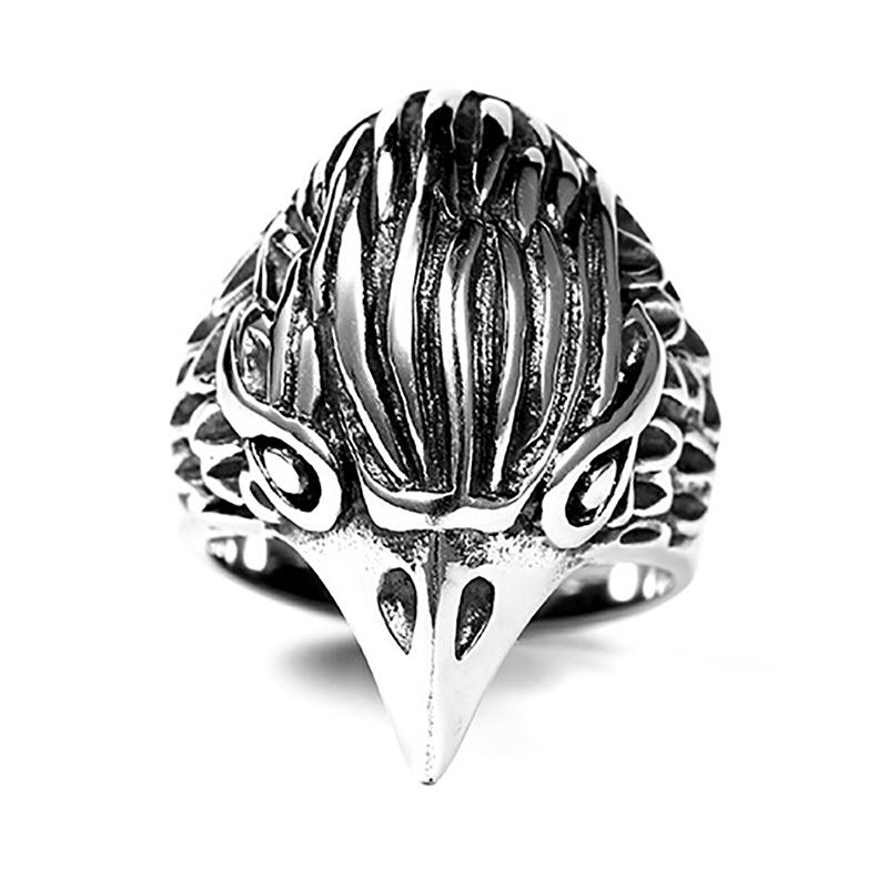 2020 Christmas Eagle Head Engagement Rings For Men