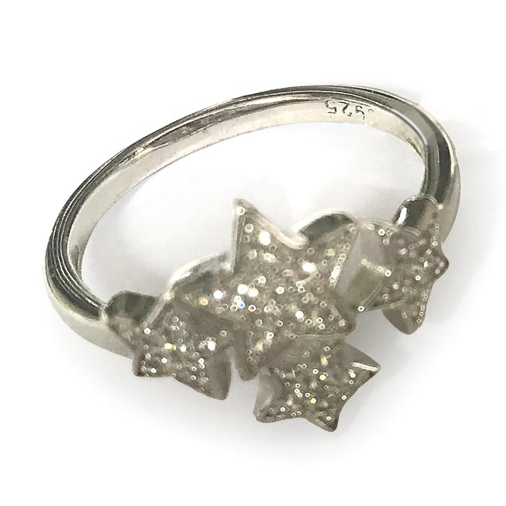 Shiny Cz Multi Star Fashion Jewelry Platinum Ring Prices In Silver