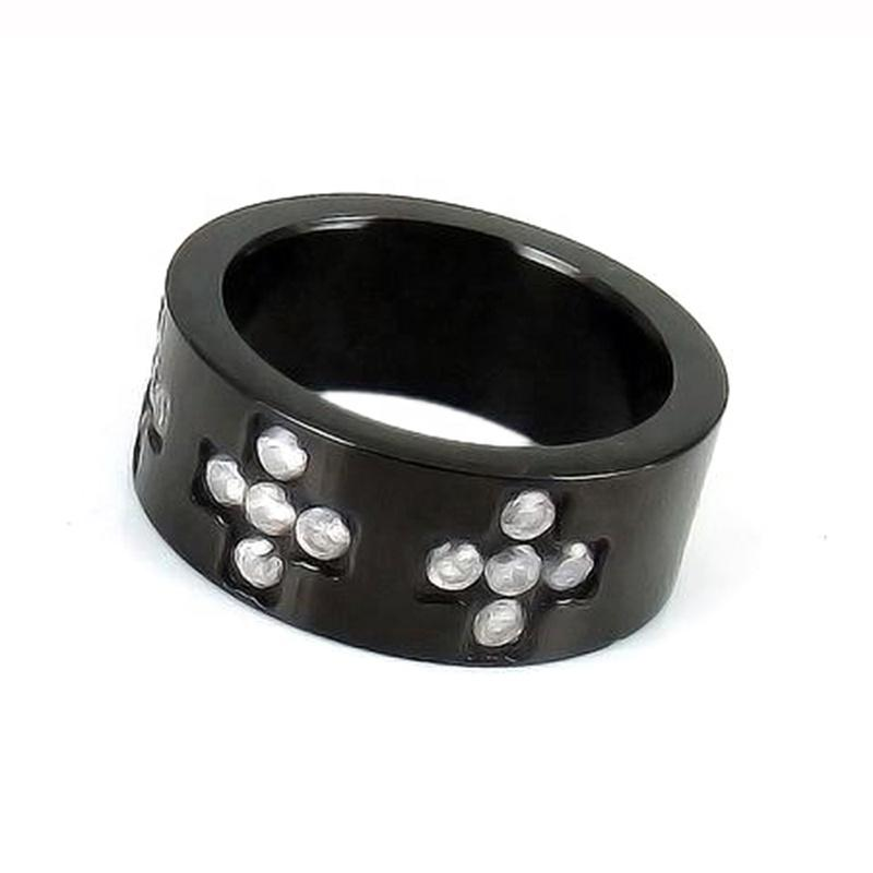 Best Seller Stainless Steel Black Men Industrial Ceramic Ring