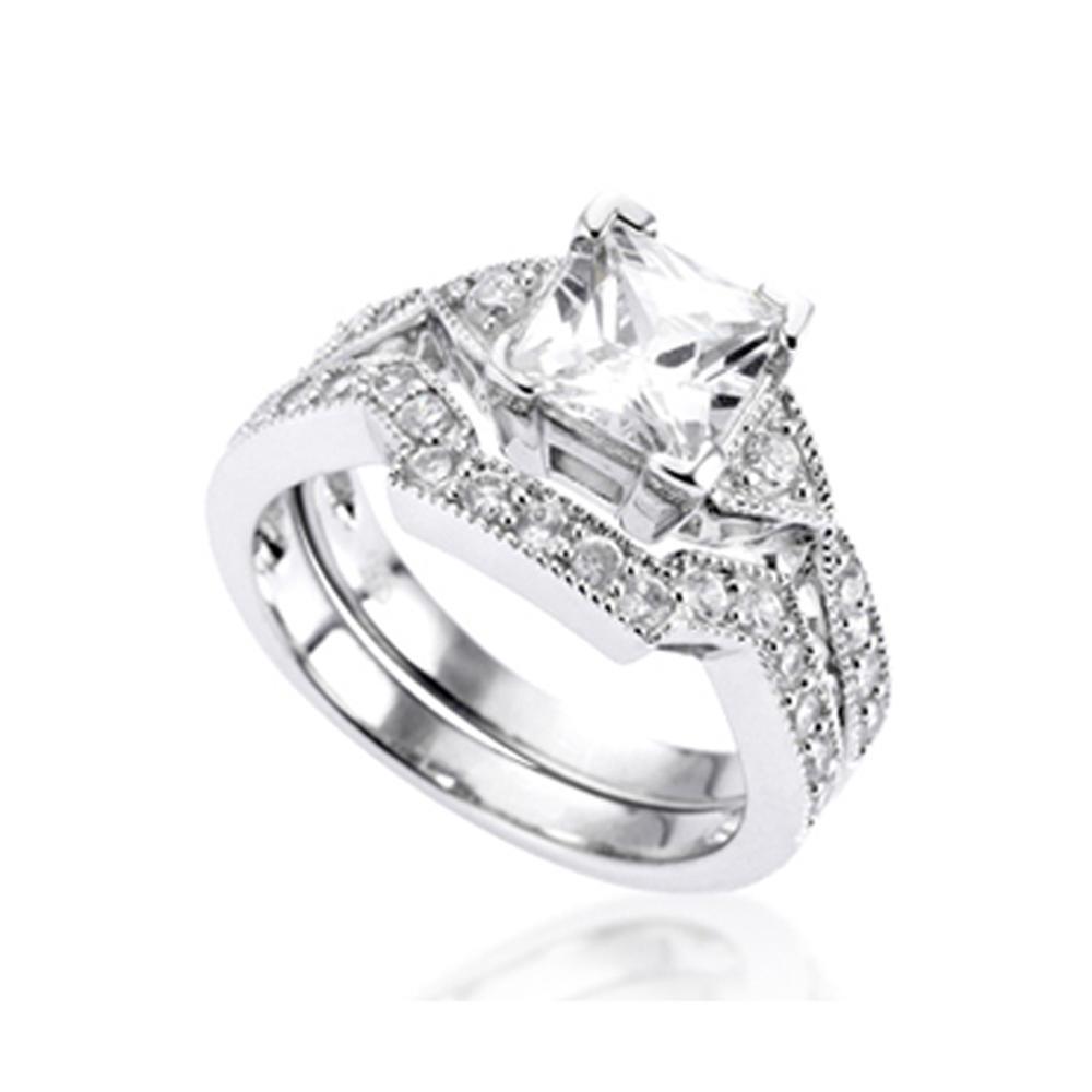 Brilliant female cubic zirconia engagement rings online