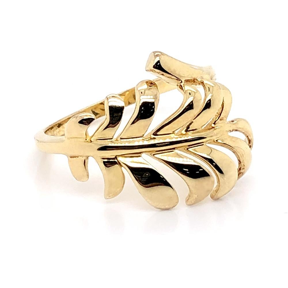 Latest fashion leaf 14k and 10k gold jewellery wholesale