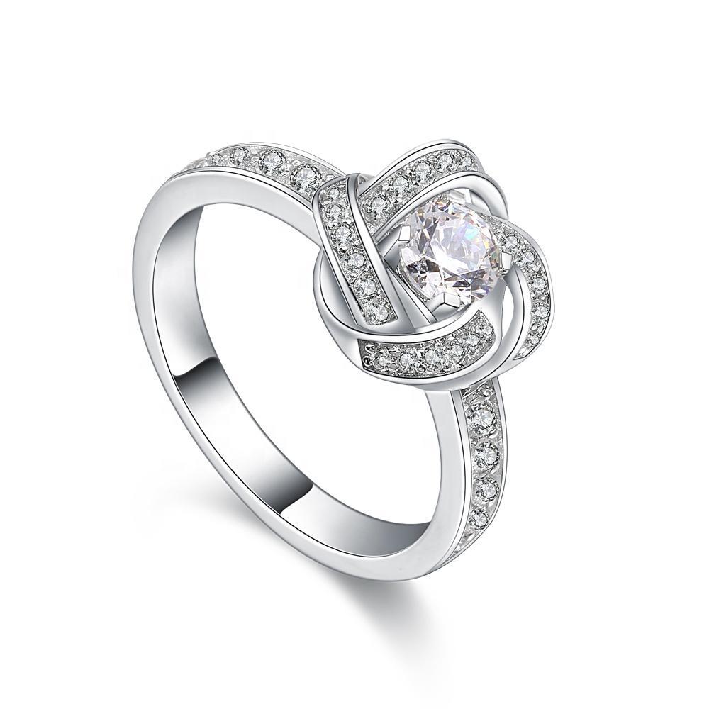 Fancy Gold Wedding Ring Set, Wedding Ring Gold 18K, 18K White Gold Ring Jewelry Women Wedding