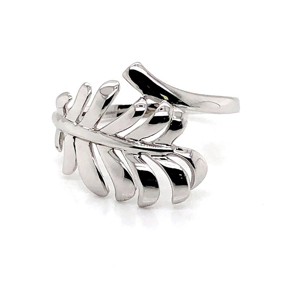 Simple leaf design wholesale sterling silver 925 fashion ring