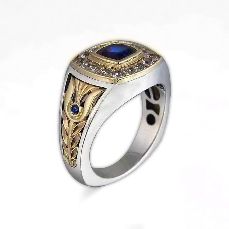Hot Sell Two-Color Zircon Ring, Fashion Jewelry Men And Women Ring Ebay New Wholesale