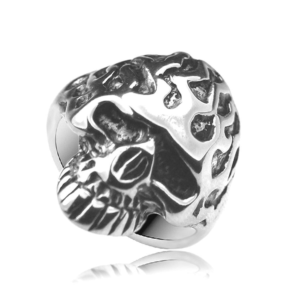 Modern style wholesale men's 925 sterling silver skull rings