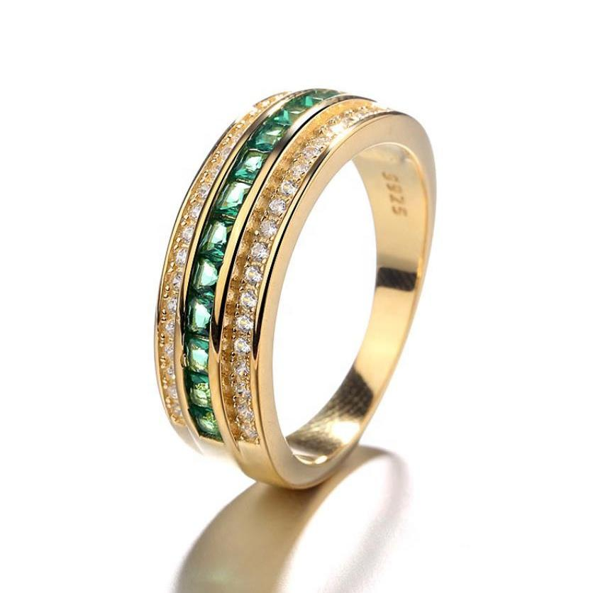 Classic 925 Silver High Quality Gold Ring For Men