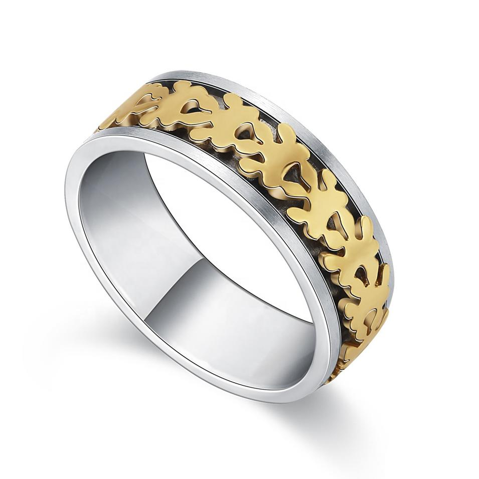 Titanium Silver 316L Stainless Steel Ring, 1 Gram Gold Ring Design For Men