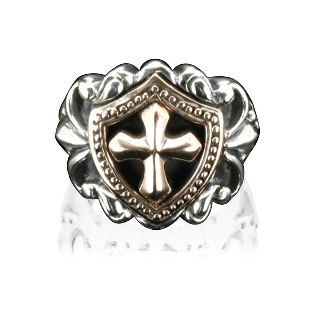 religious symbol cross ring mens christian jewelry