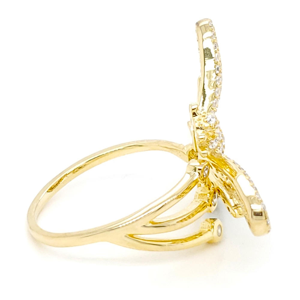 Gold Plating Design Bee Shape Jewelry Wholesaler Real 925 Sterling Silver