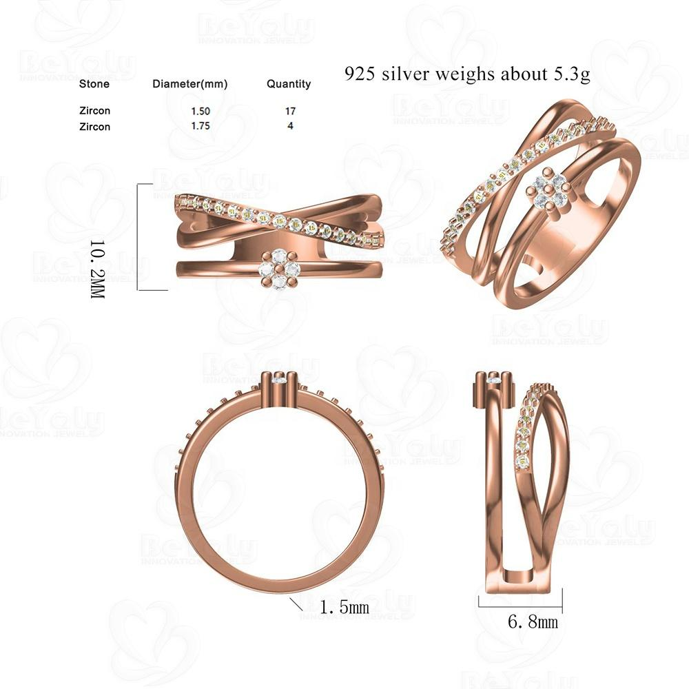 Beyaly CAD Custom Jewelry IX Roman Numeral Design Ring For Female