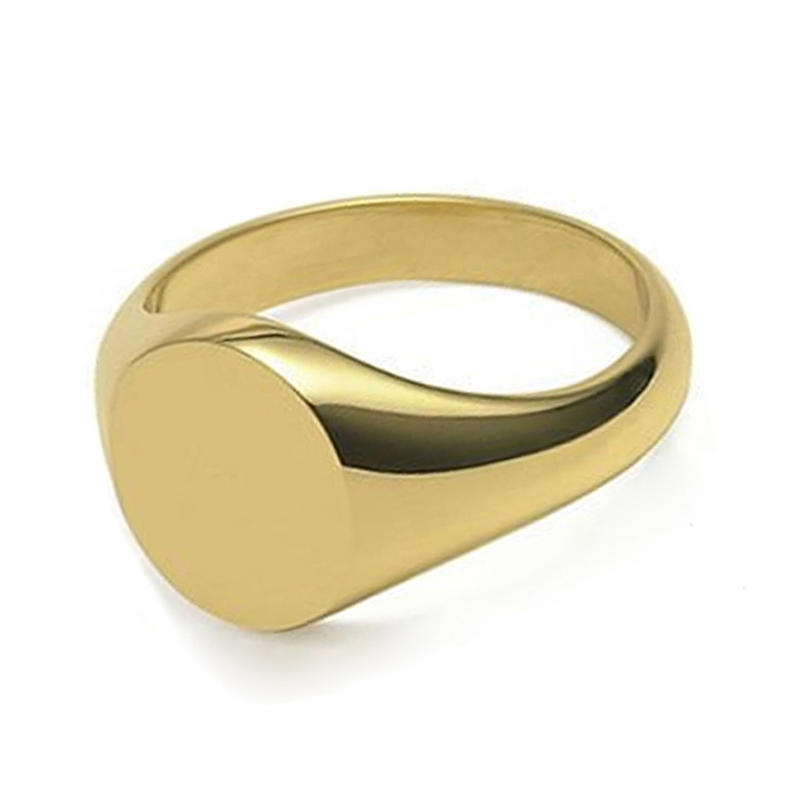 Wholesale Personalized Engraved Solid Gold Men Signet Ring