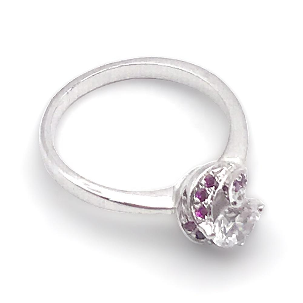 Wholesale Flower Jewelry Natural Ruby Ring, Genuine Silver Jewelry 925 Sterling