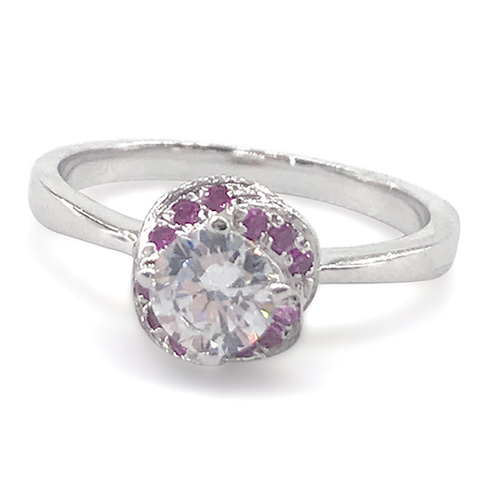 Flower Costume Jewelry 925 Sterling Silver Genuine Natural Ruby Ring
