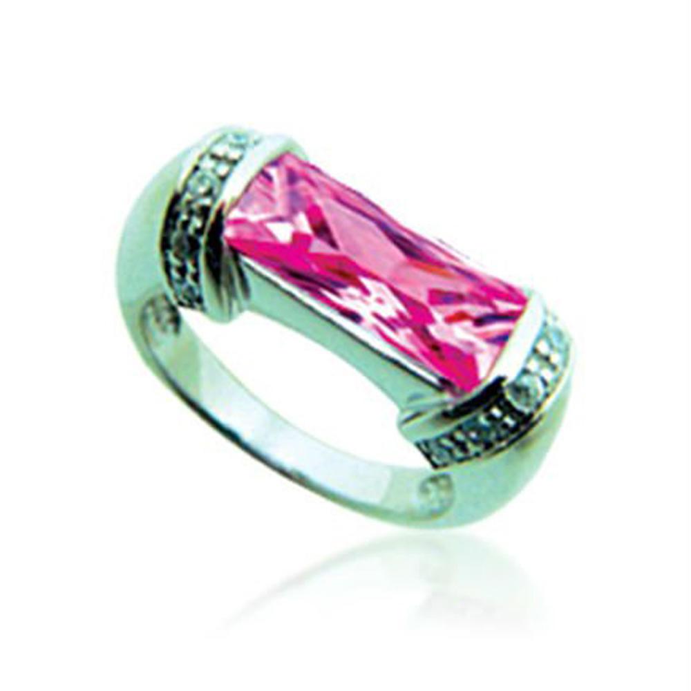 Luxurious design purple gemstone silver gold ring dubai