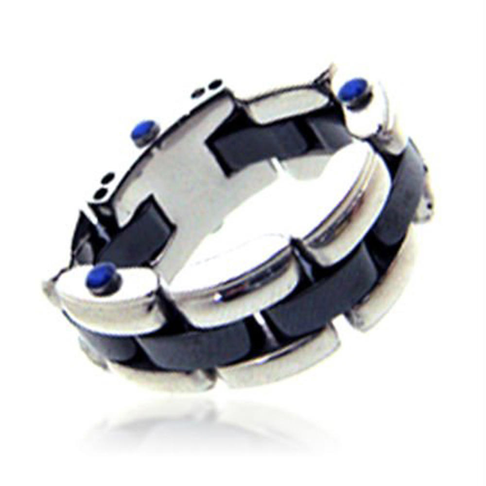 Manly style shiny wholesale finger braided leather rings
