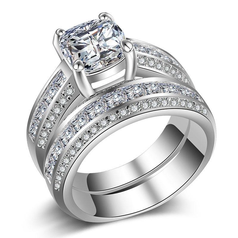 Gold Plated Enamel Multi Stone Zircon Ring For Men