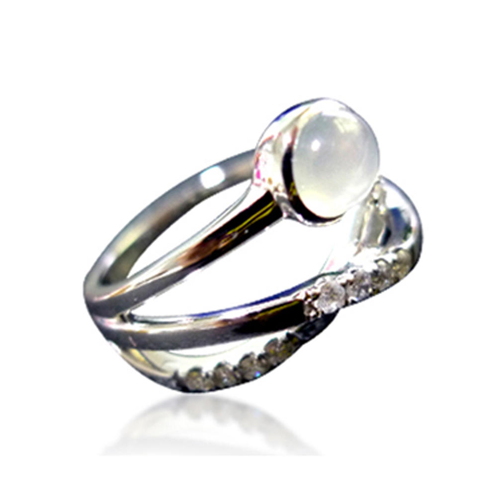 Smart heart design ladies beauty jewelry set tahitian pearl rings