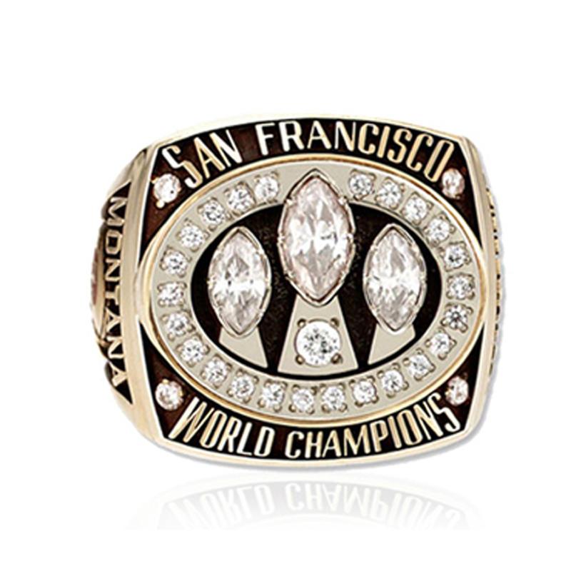 Gold plating zircon San Francisco 49ers men's championship ring