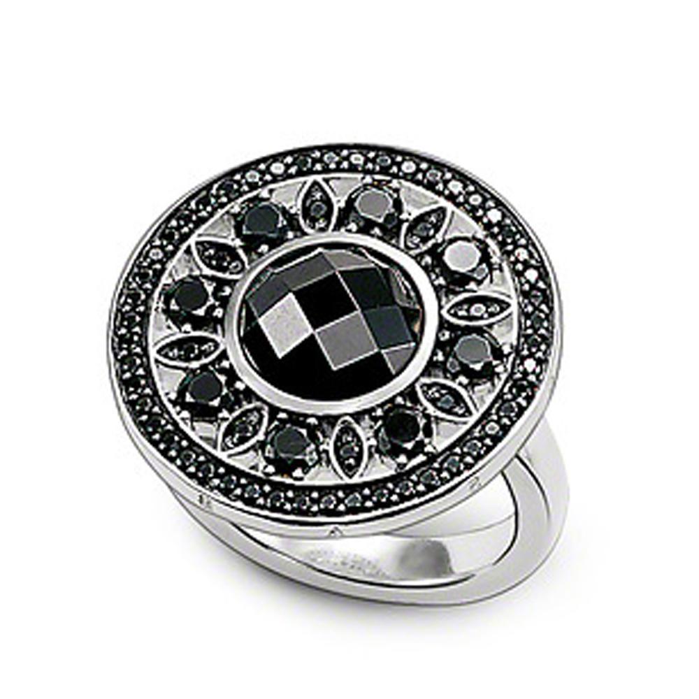Princess cut black obsidian 925 sterling silver jewelry