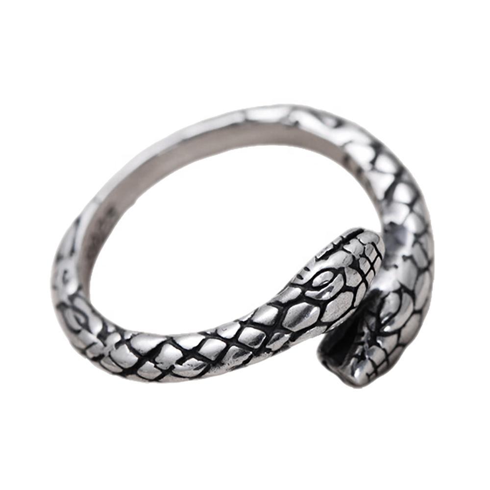 Wholesale Men Popular 925 Silver Snake Ring Jewelry