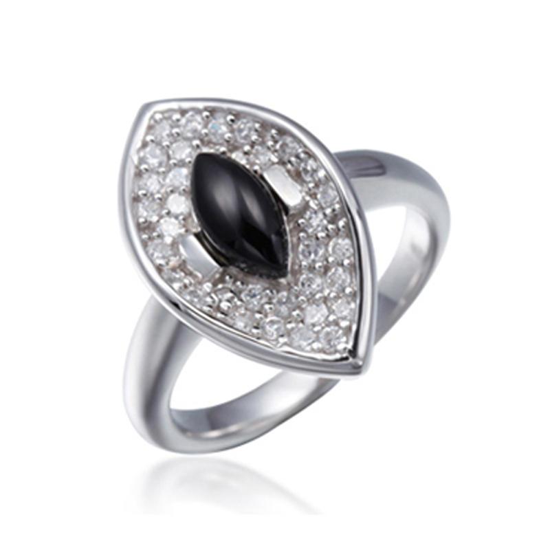 Envy Eye Shaped Saudi Arabia Men Ring 925 Sterling Silver