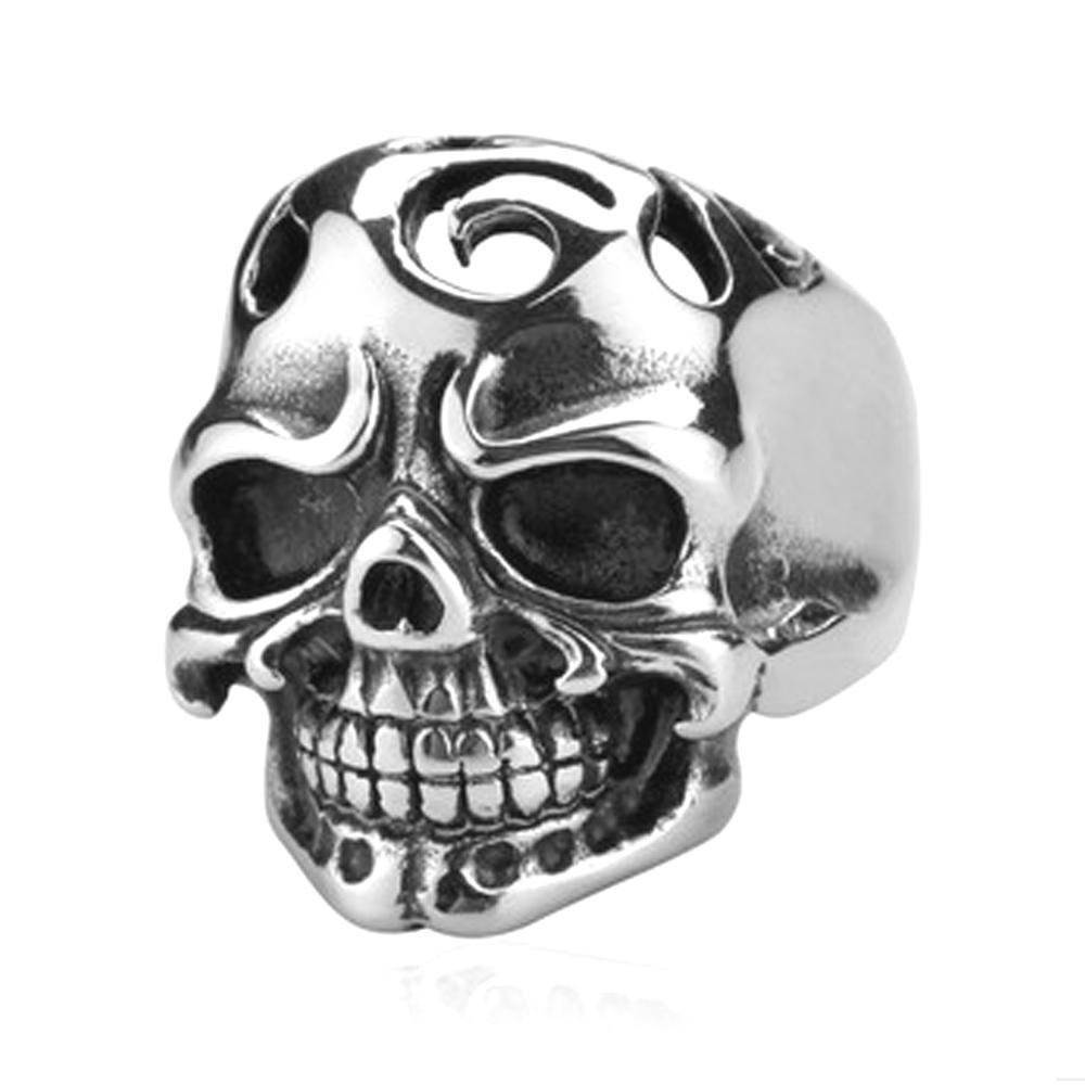 Fresh design cool men fashion souvenir skull lion head rings