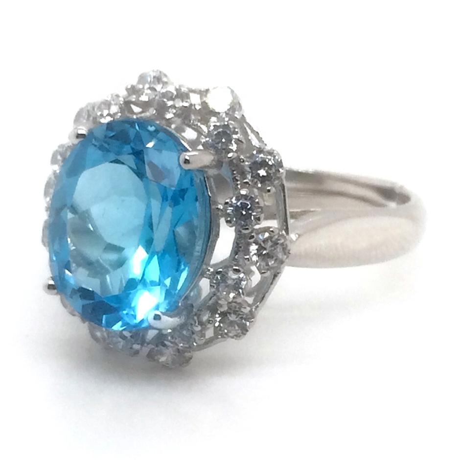 Dressy Women Love 925 Silver Blue Turquoise Stone Rings For Party