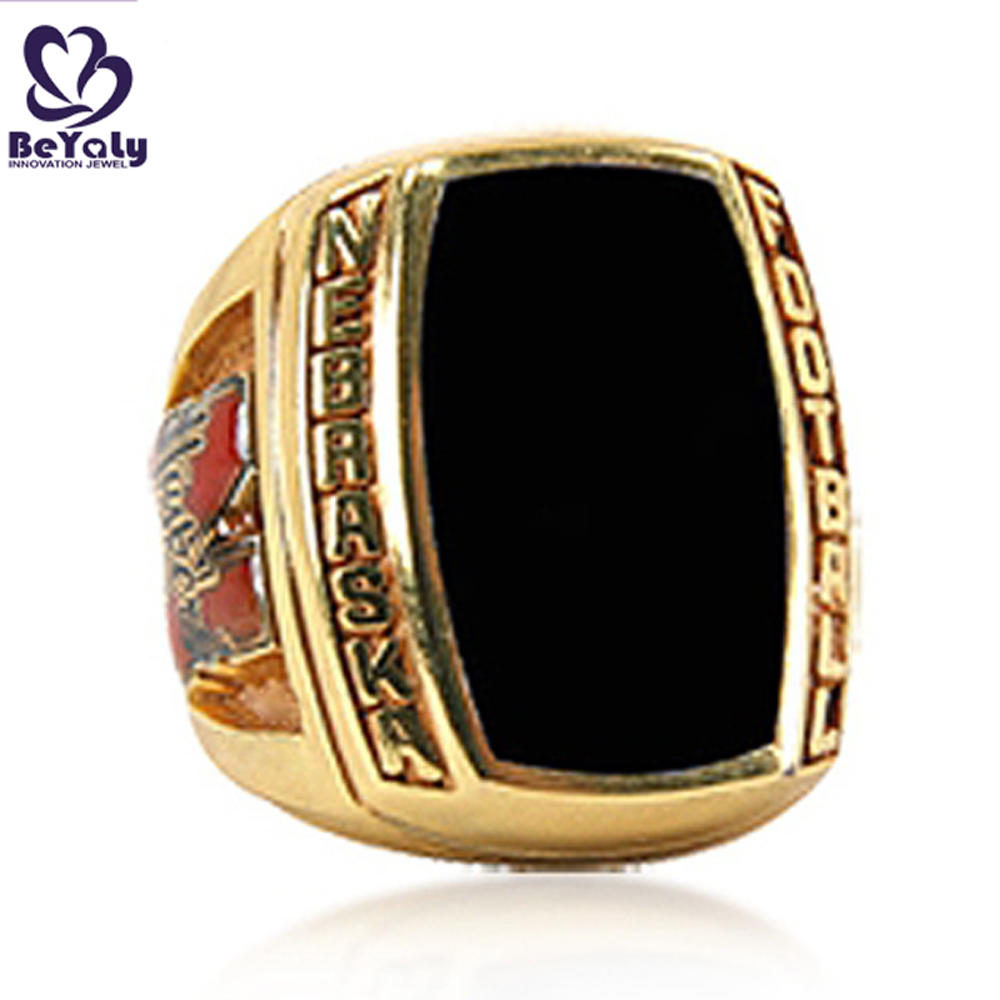 Black painting gold plating custom signet rings without stone