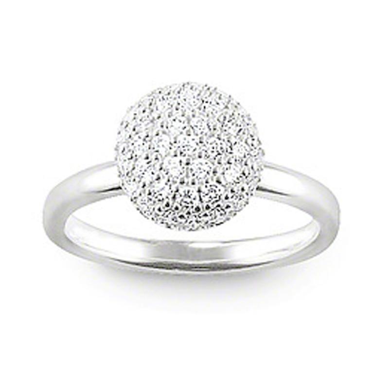 Semi Precious Stone Ball Head Free Sample Women Wedding Ring Set