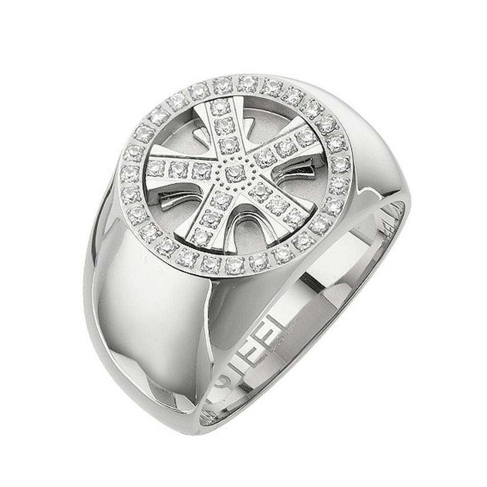 Nautical wheel design wholesale stainless steel biker rings