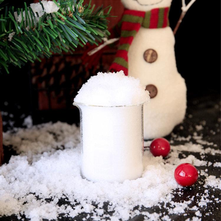 Christmas Decoration Outdoor Artificial Snow Powder , Kids Toy Magic Powder Instant Snow