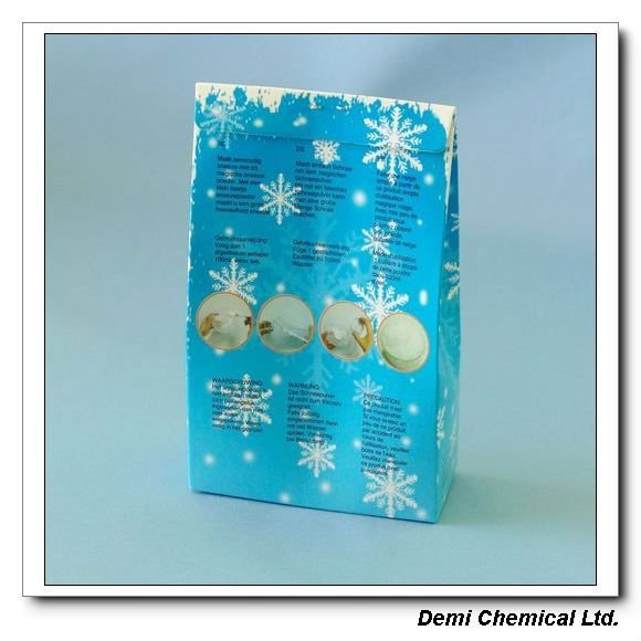 Super Absorbent Polymer White Instant Artificial Snow Powder For Christmas