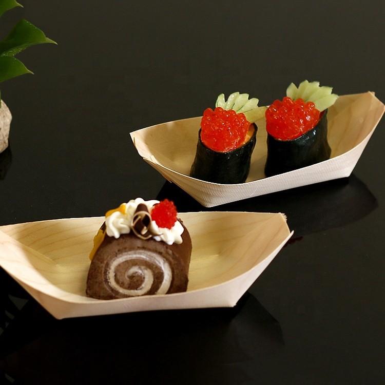 large modern wood japanese sushi serving tray wooden sushi boat for cargo
