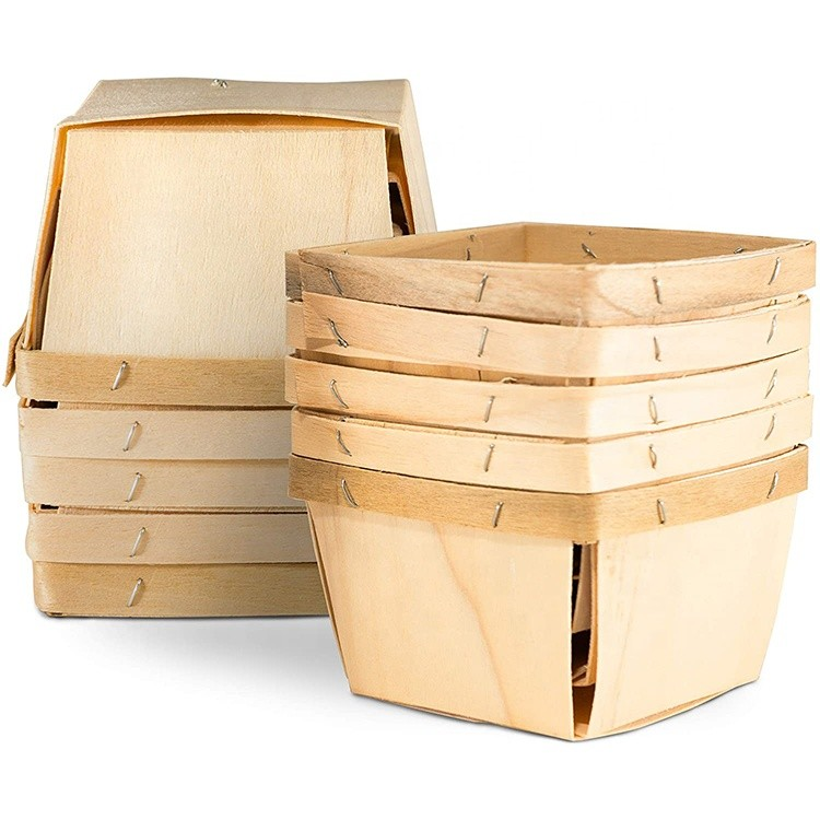 Hot sale Custom unfinished cheap disposable wooden box for fruit