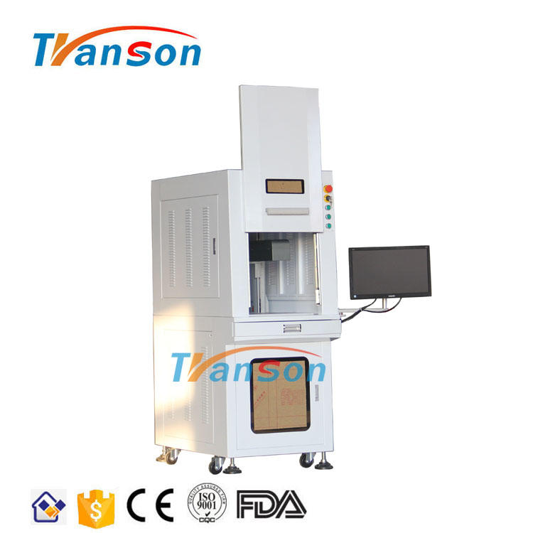 Sealed 50W 3D Curve Surface Dynamic Focusing Fiber Laser Marking Machine for Metal and Nonmetal
