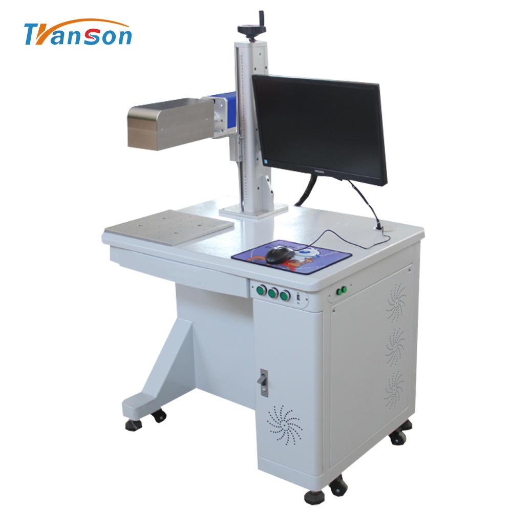 Metal Deep Engraving Dynamic Focusing Desktop 3D Tpye Fiber Laser Marking Machine