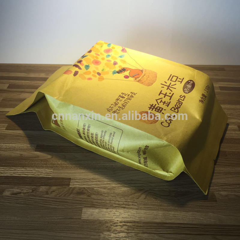Popcorn pack kraft paper bag brown China supplier