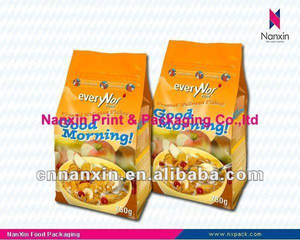 corn flakes gusset plastic packaging bag