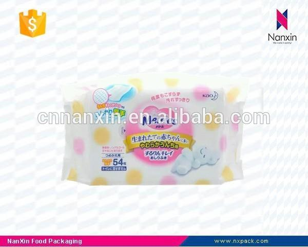 plastic side gusset packaging bag for paper diaper