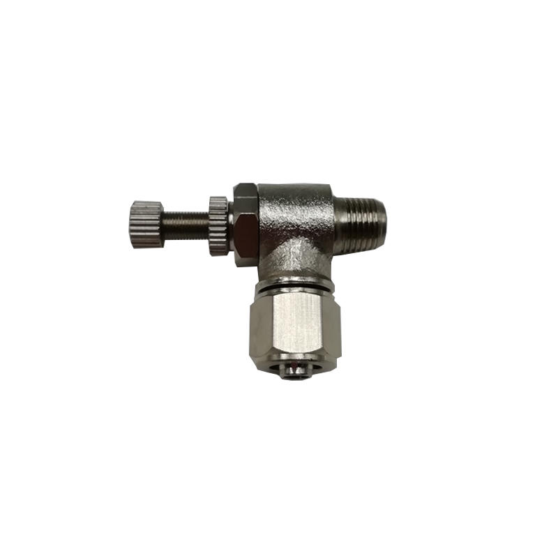 TKN-SL8-01Unidirectional speed regulating valve Nickel plating on copperPipe