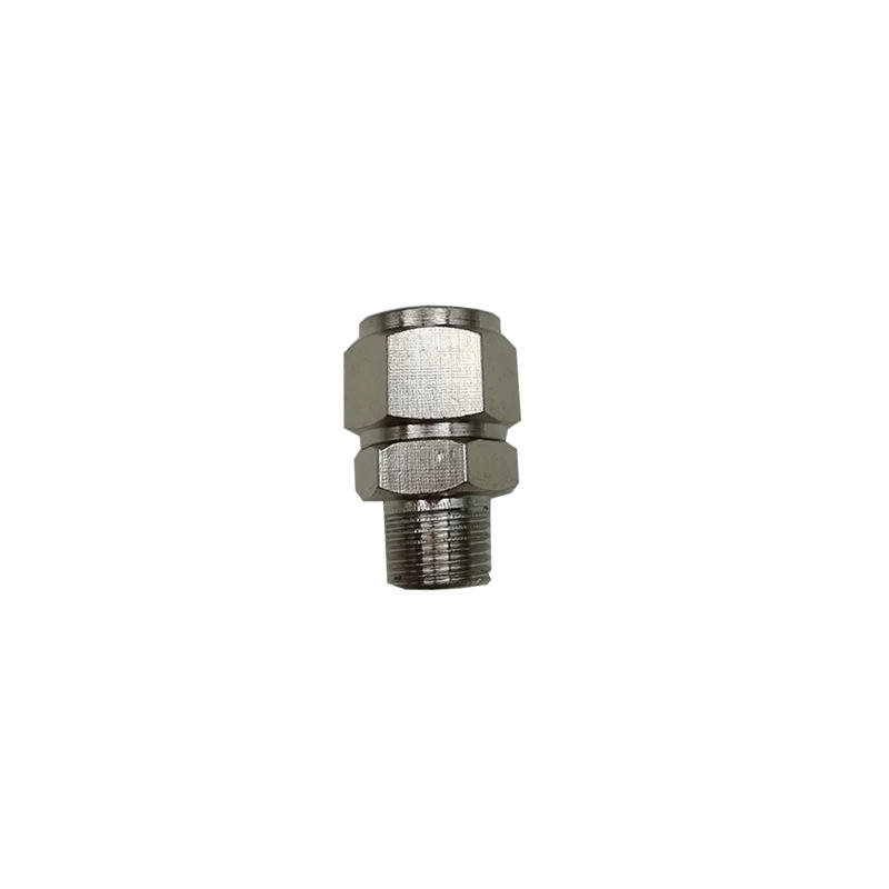 push on male straight TKN-PC8-011/8 Nickel plating on copper Gas pipe