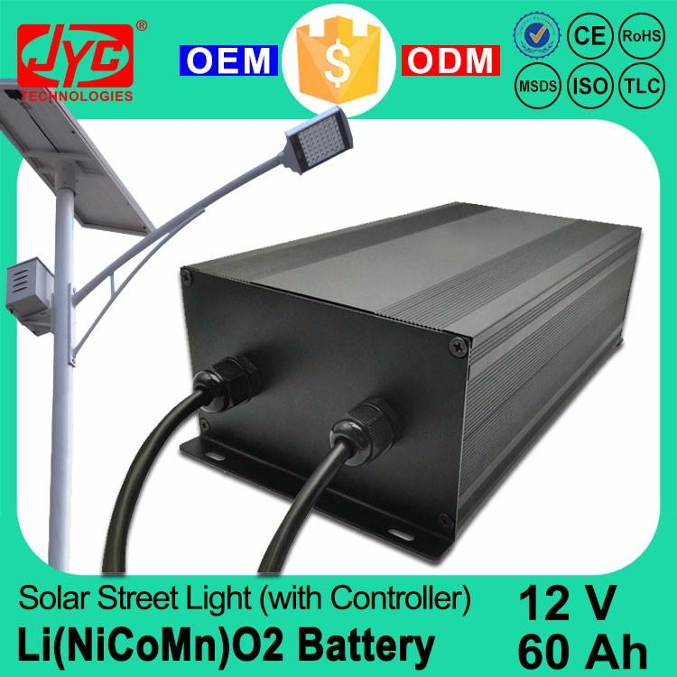 12V 60AH Solar Street Light Battery with Controller Lighter Weight and High Voltage of High Discharge Rate Lipo Battery