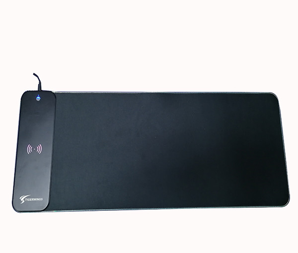 Custom Black Printed USB Lighting RGB LED Glowing Large size Gaming Mouse Pad