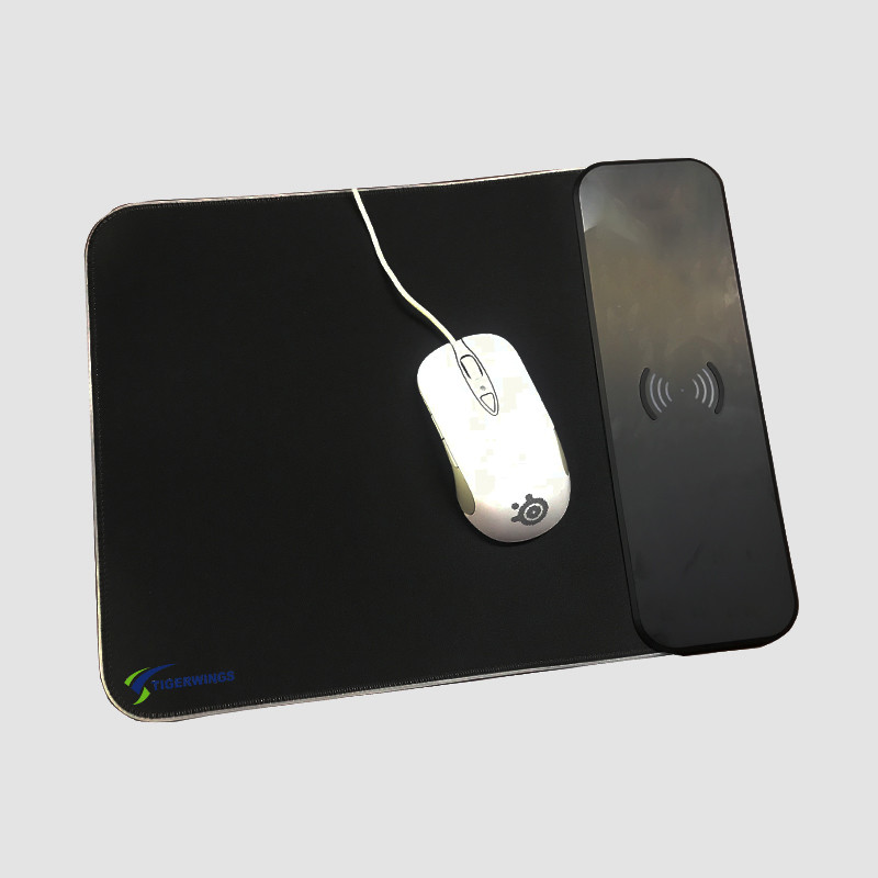 Wireless charging custom mouse pad led rgb light red blue light gaming pad office mousepad