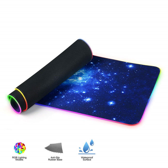 Tigwewings 2020 new fashion rgb rubber gaming mouse pad with led light