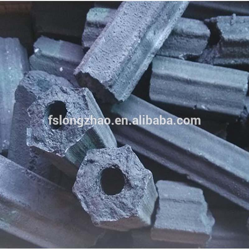 White Ash Hexagon Sawdust Charcoal Briquette for BBQ