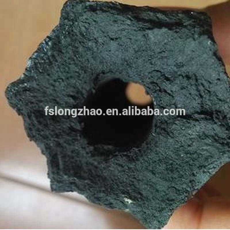 Black Charcoal Type and All Shape charcoal briquette in hexagonal